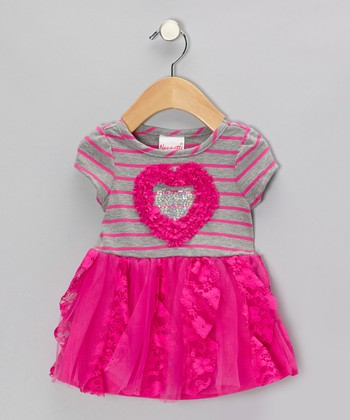 Fuchsia Heart Dress - Infant, Toddler & Girls