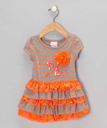 Orange Stripe Dress - Infant, Toddler & Girls