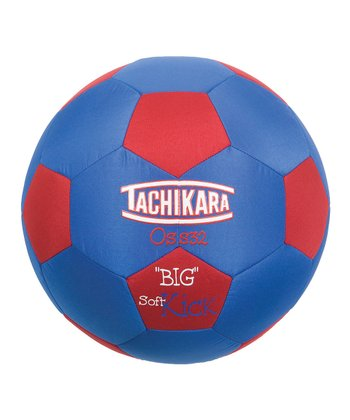 Red & Blue Big Soft Soccer Ball