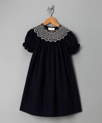 Blue Carla Bishop Dress - Girls