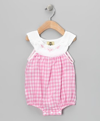 Lil Cactus Pink Gingham Bubble Bodysuit - Infant