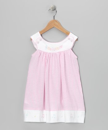 Pink & White Musical Note Dress - Infant & Toddler