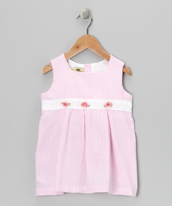 Pink Rose Stripe Dress - Infant & Toddler