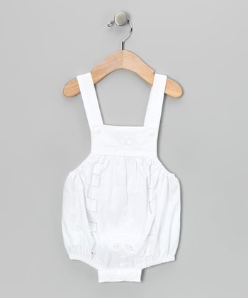 White Floral Bubble Bodysuit - Infant