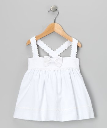 White Bow Dress - Infant & Toddler