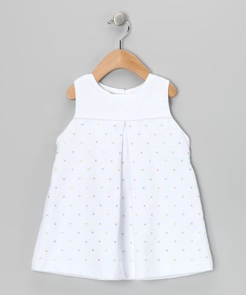 White & Yellow Polka Dot Dress - Infant & Toddler