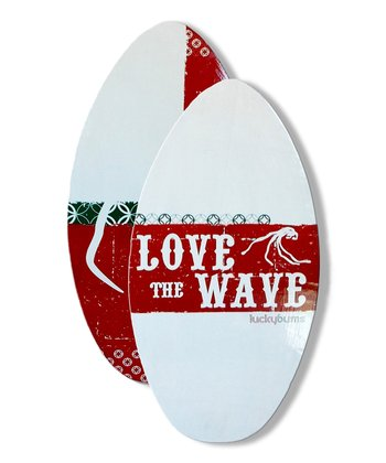 "Clubs 39"" Wood Skim Board"