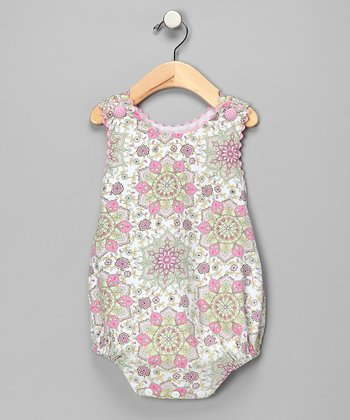 Pink Floral Bubble Bodysuit - Infant
