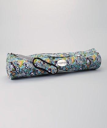 Blue Paisley Yoga Bag