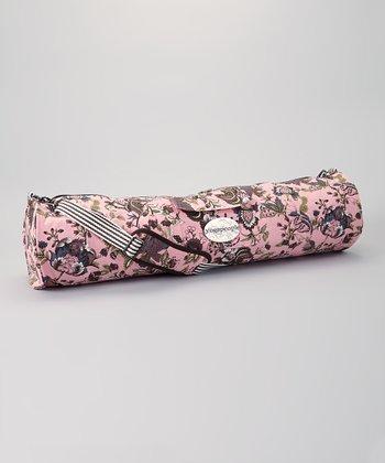 Pink Floral Yoga Bag