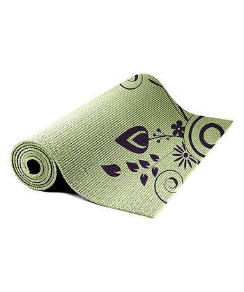 Sage & Purple Floral Yoga Mat