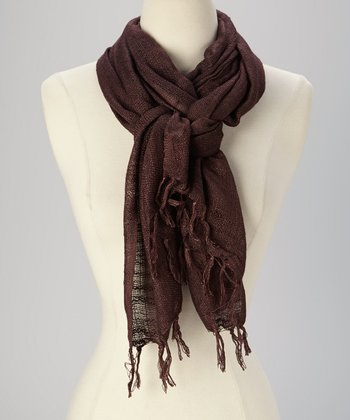 Brown Bora Scarf