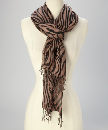 Brown Tiger Stripe Scarf