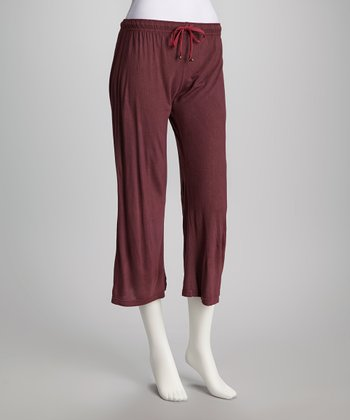 Maroon Yoga Pants - Women