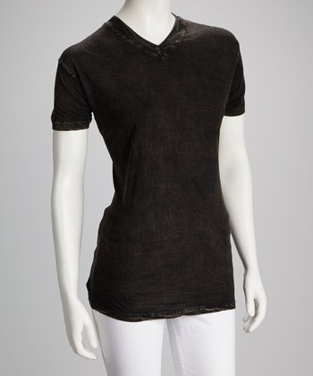 Black V-Neck Top - Women