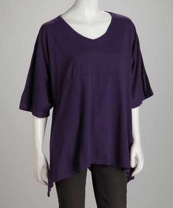 Eggplant Sidetail Top - Women