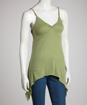 Green Organic Sidetail Tank - Women
