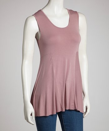 Mauve Drape Sleeveless Top - Women