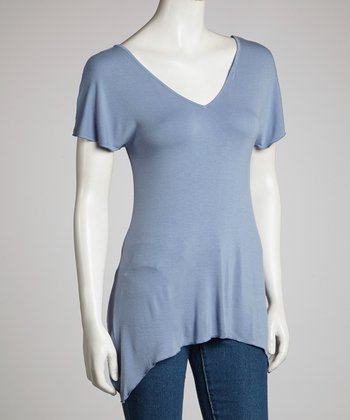 Blue Short-Sleeve Top - Women