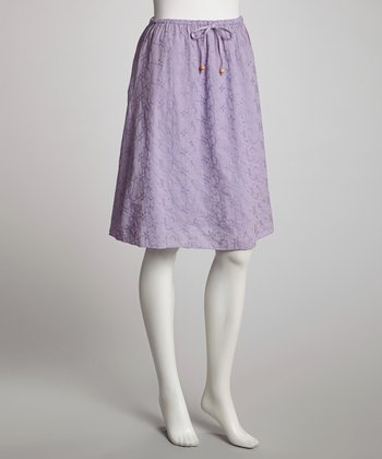 Purple Organic A-Line Skirt - Women
