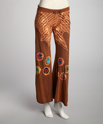 Brown Circle Patch Lounge Pants