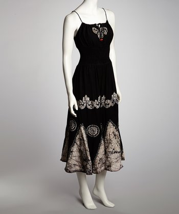 Black & White Arabesque Maxi Dress - Women