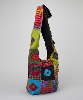 Rainbow Diamond Patch Tote
