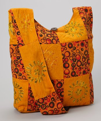 Orange Bubble Tote