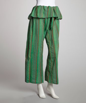Green Stripe Lounge Pants