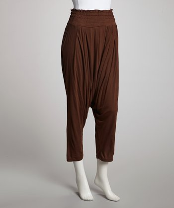 Brown Harem Pants - Women