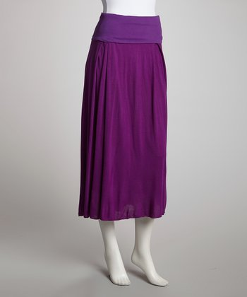 Purple Convertible Skirt - Women