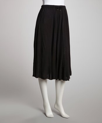 Black Mid-Length Skirt