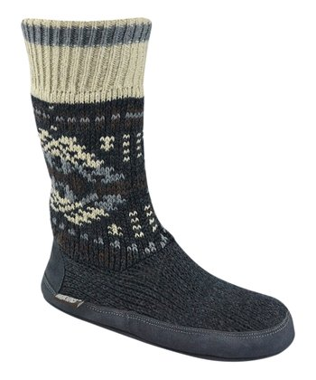 Black Cabin Wool-Blend Slipper Boot