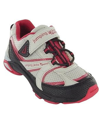 Gray & Red Motion Running Shoe