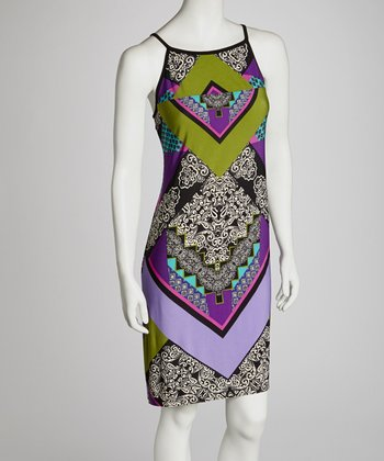 Purple Abstract Dress - Women