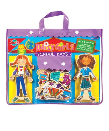 Daisy Girls School Days Magnetic Dress-Up Set
