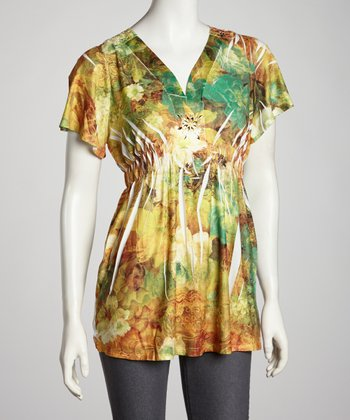 Rust Sublimation V-Neck Top