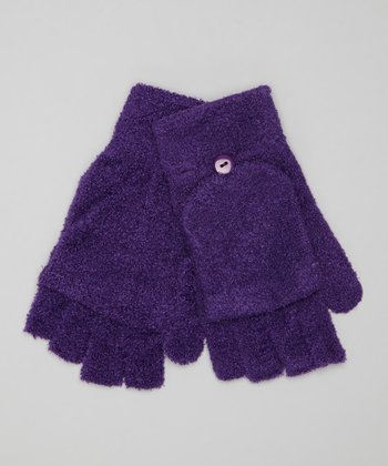 Purple Convertible Gloves