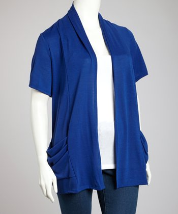 Royal Blue Cardigan - Plus