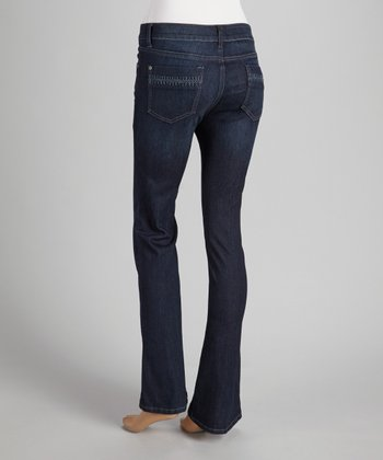 Prairie Crocheted Pocket Bootcut Jeans