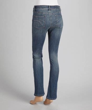 Chantilly Tack Sanded Straight-Leg Jeans
