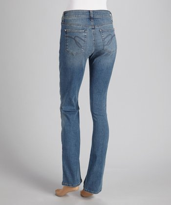Melrose Pick Stitch Straight-Leg Jeans