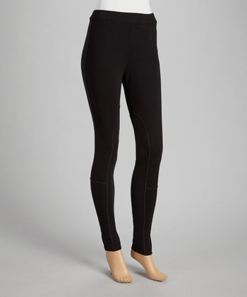 Black Ponte Riding Leggings