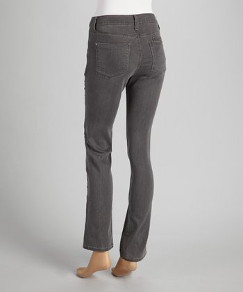 Carbon Double Pocket Straight-Leg Jeans