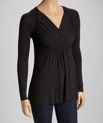 Black Bridget Long-Sleeve Top