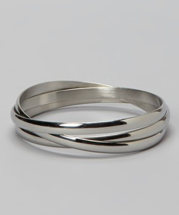 Silver Interlocked Bangle