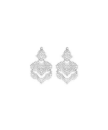 Silver & Crystal Izabella Drop Earrings