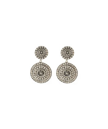 Antique Silver & Crystal Raisa Earrings