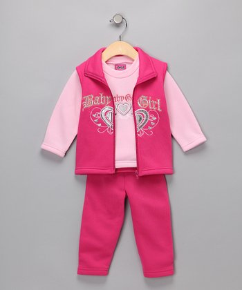 Hot Pink 'Baby Girl' Set - Infant