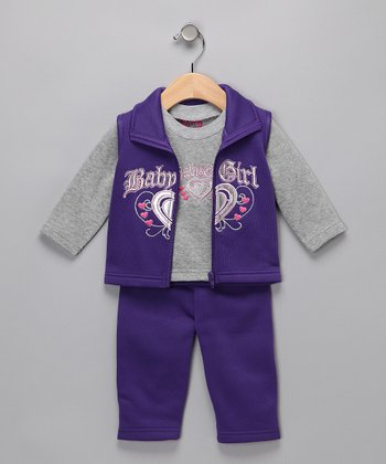Purple 'Baby Girl' Set - Infant